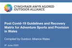 Post Covid-19 Guidelines and Recovery Matrix for Adventure Sports and Provision in Wales