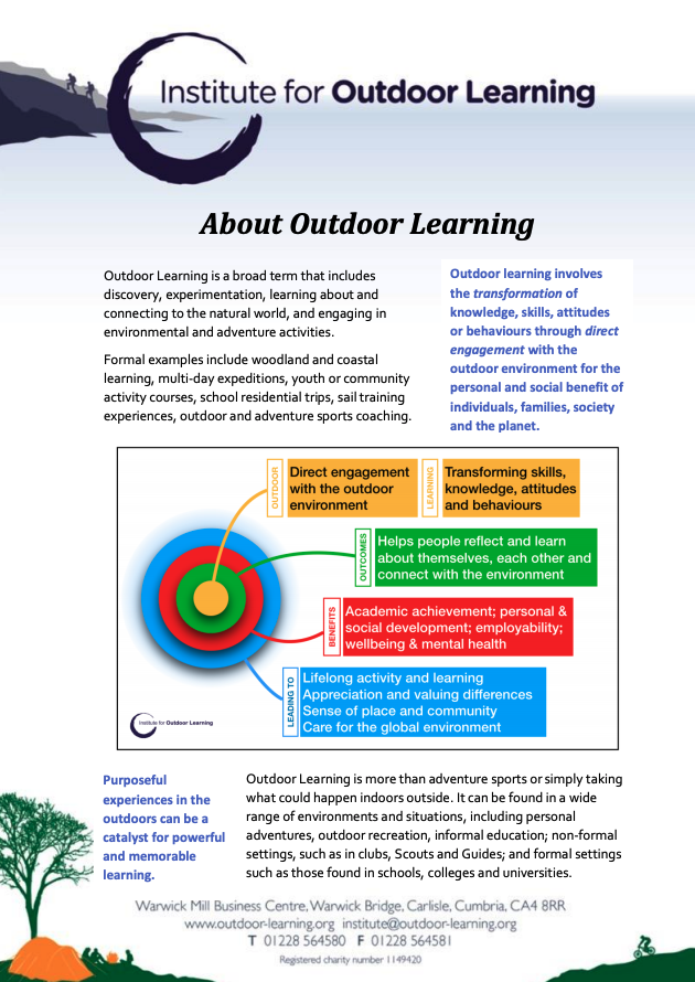 About Outdoor Learning
