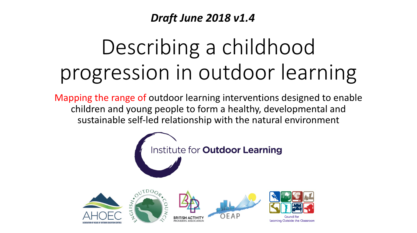 Childhood progression in outdoor learning