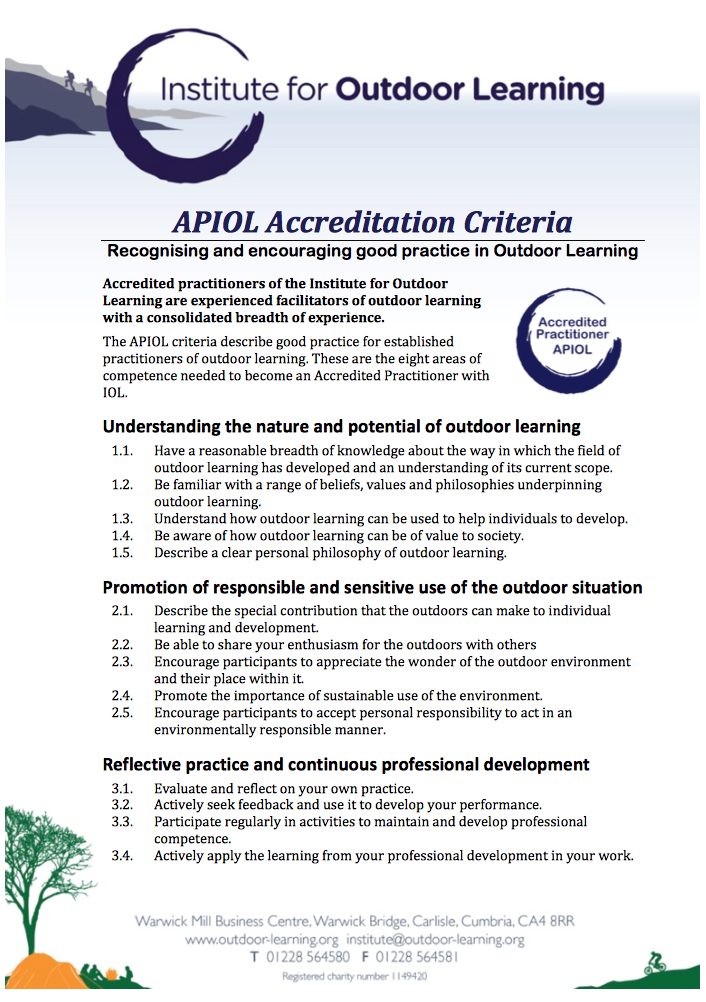 APIOL Accreditation Criteria