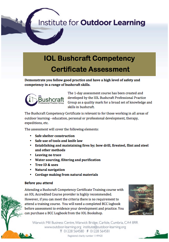 Bushcraft Competency Certificate Assessment