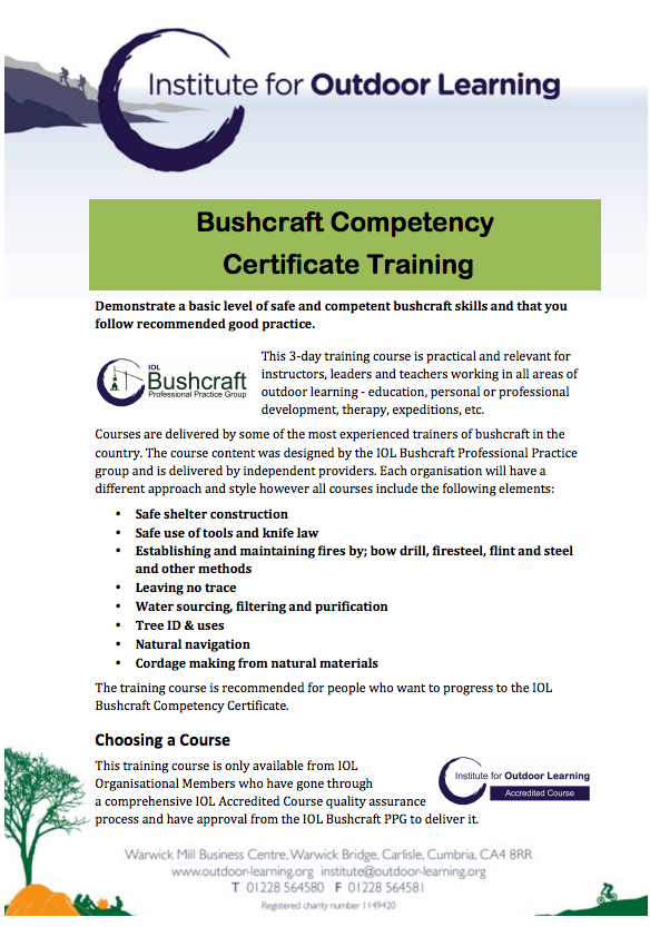 Bushcraft Accredited Training