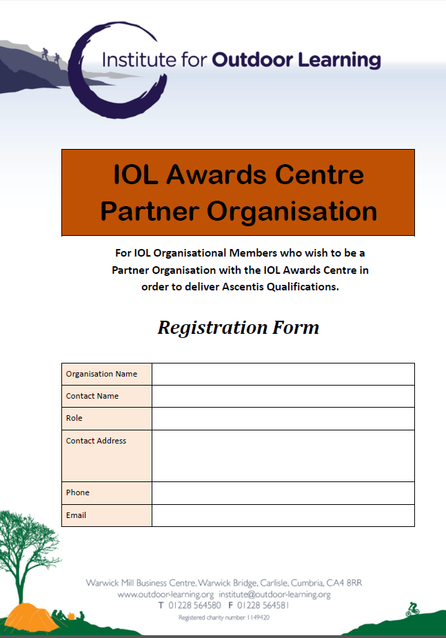 IOL Awards Centre Partner Application Form