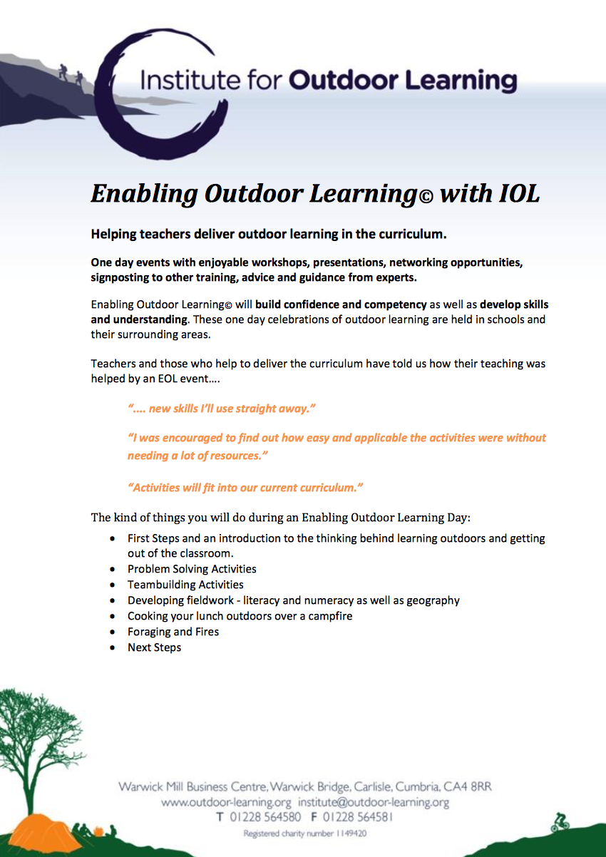 Enabling Outdoor Learning for Teachers Document