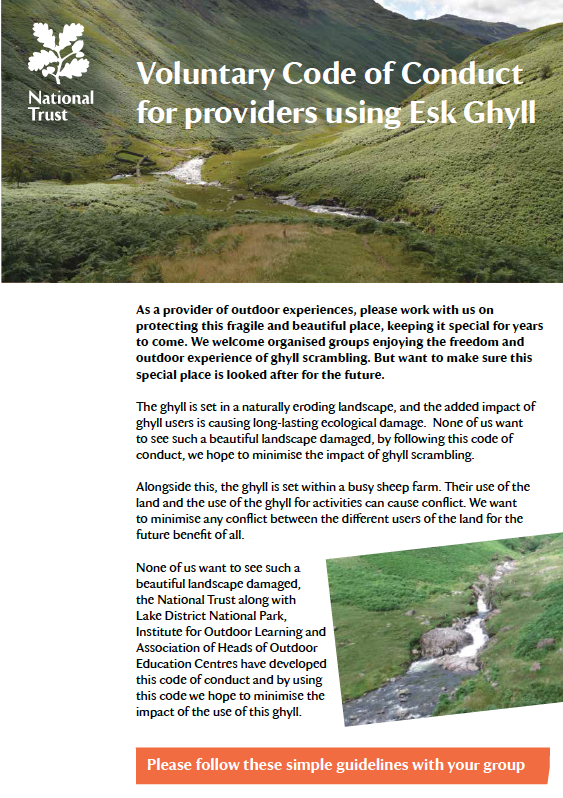 Esk Ghyll Code of Conduct